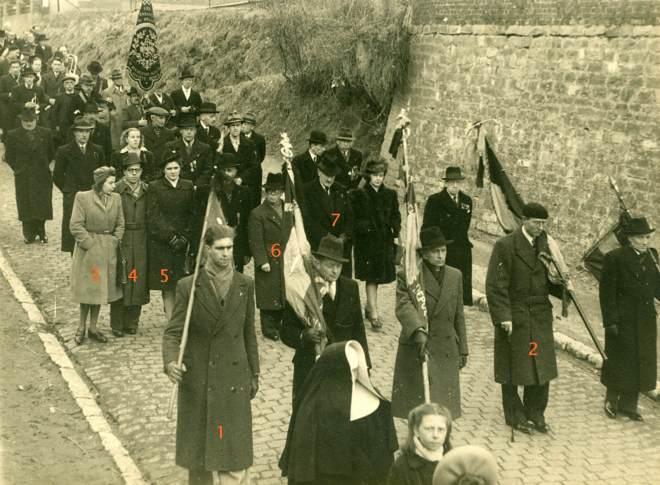 14. Funérailles Dr Lucien Dessy mars 1947 Collection Dupuis Delbrassinne