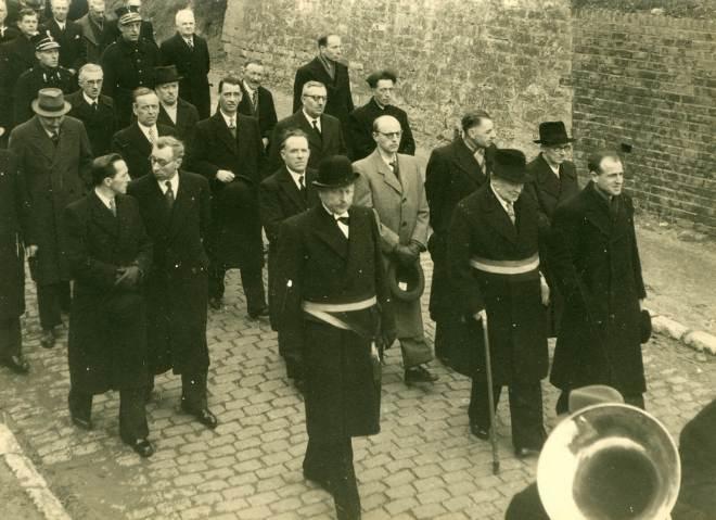 16. Funérailles Dr Lucien Dessy mars 1947 Collection Dupuis Delbrassinne