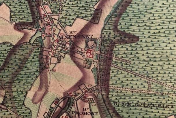 Castellum Rixensart Atlas Ferraris Rixensart 1777 (1)