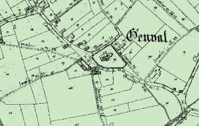 1 Carte de 1841 Eglise Saint-Sixte Atlas des voiries vicinales de 1841