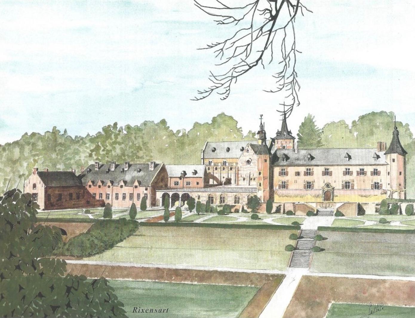 Château de Rixensart Châteaux de Belgique coll. Delhaize