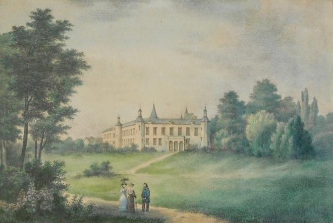 Château de Rixensart J B Jobart pinxit coll Vivien de Walque