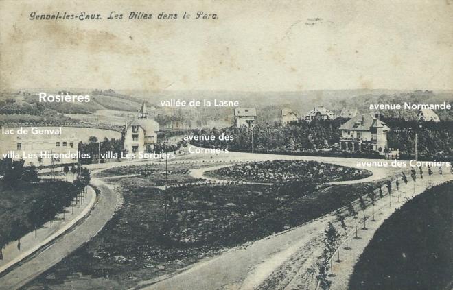 Avenue des Cormiers Parc de Genval 1908 coll Patrimoine rixensartois 0 copie