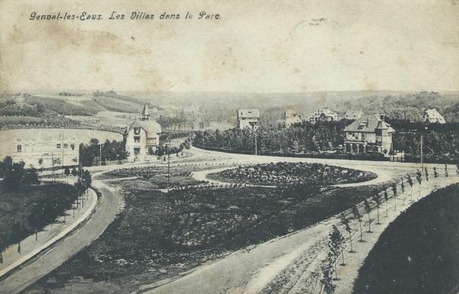 Avenue des Cormiers Parc de Genval 1908 coll Patrimoine rixensartois 0
