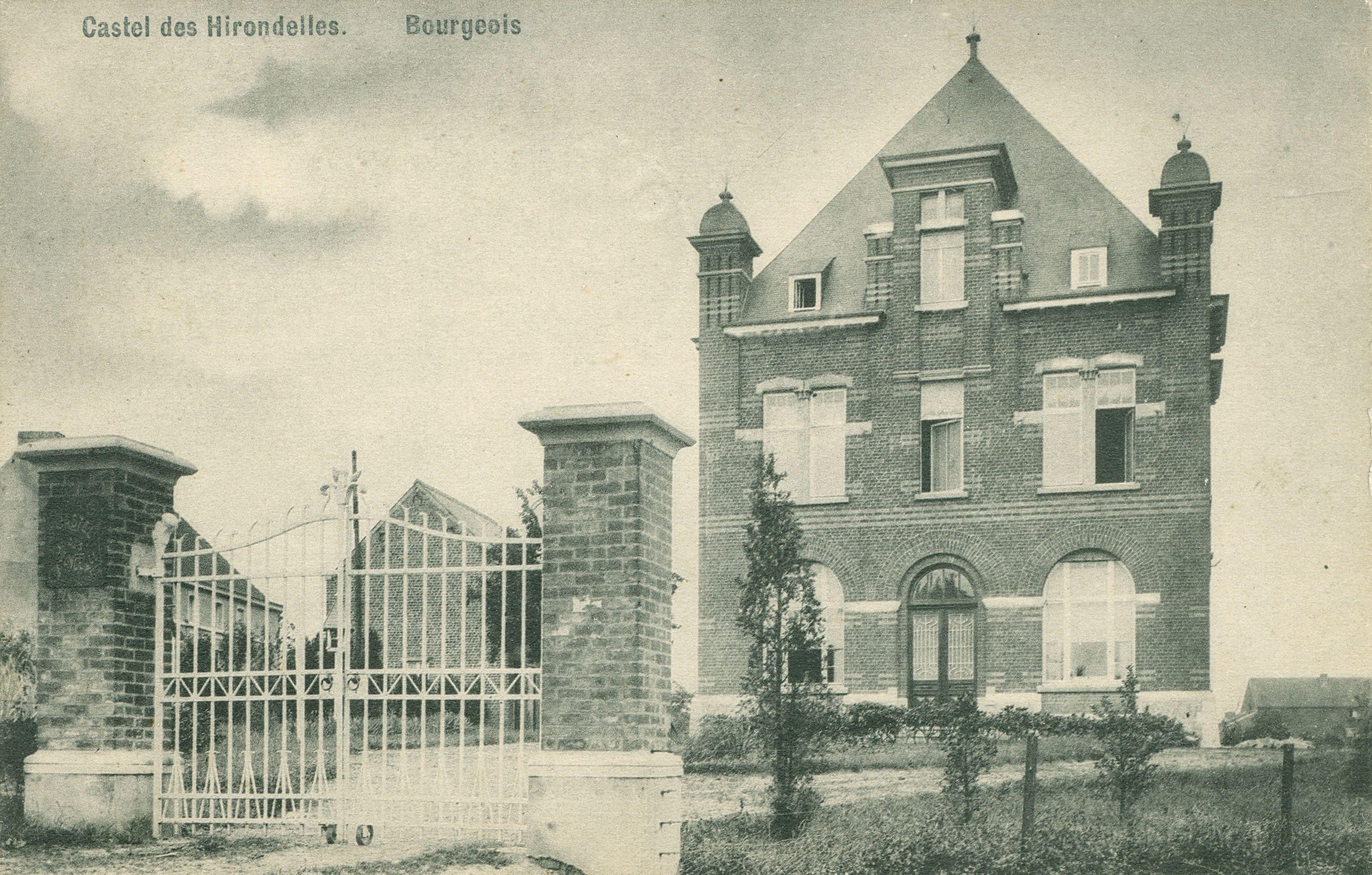 672. Castel des Hirondelles Bourgeois rue Haute Rixensart circ 1912 c JCR 0413