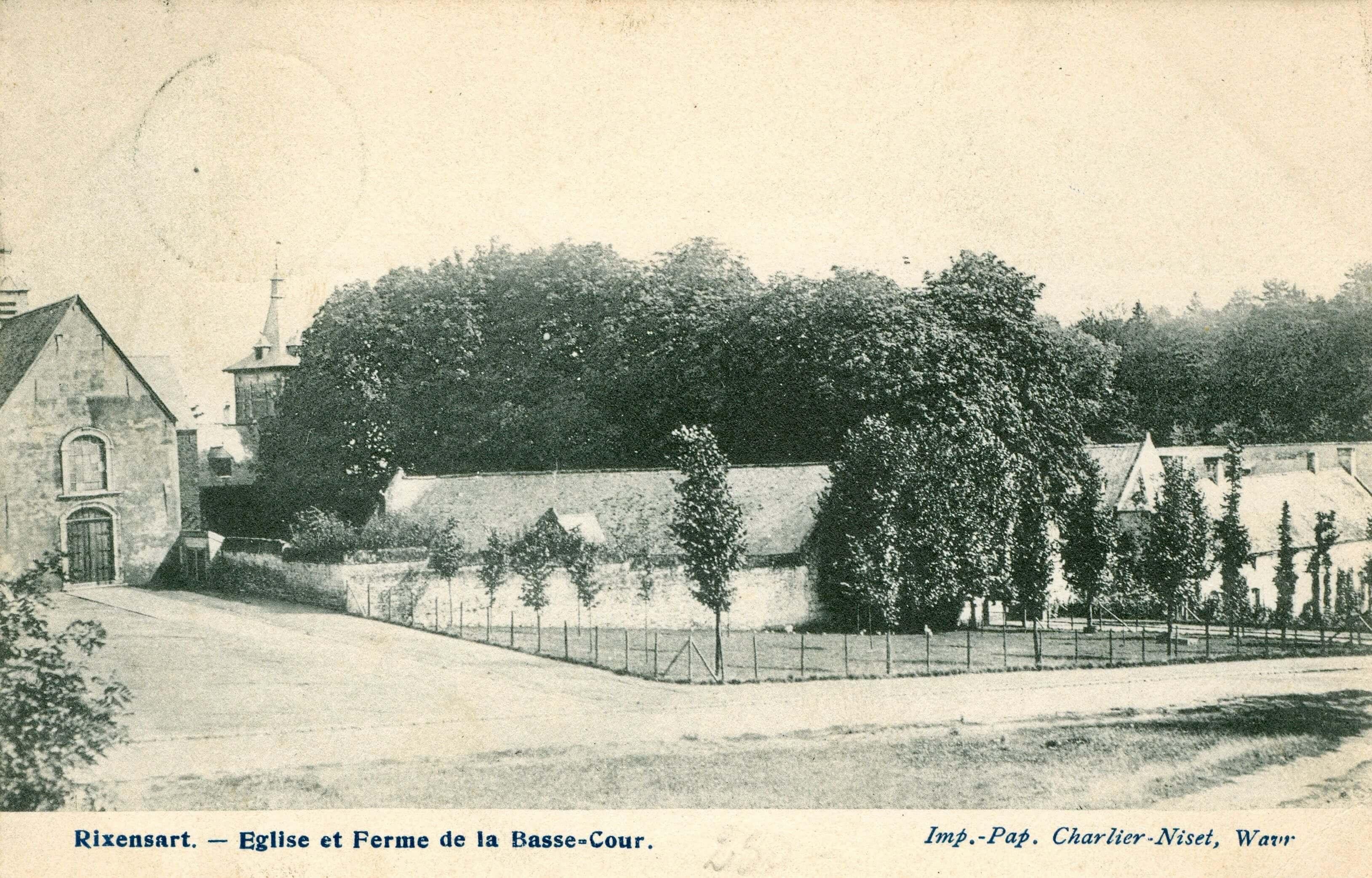 1 Neuf Tilleuls Eglise et Ferme de la Basse-Cour 149 1906 coll Martin JCR