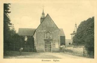 2B Eglise Sainte-Croix rue de l'Eglise à Rixensart ca 1908 c JCR