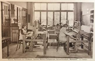 Institut Médico Pédagogique Sainte-Elisabeth tissage