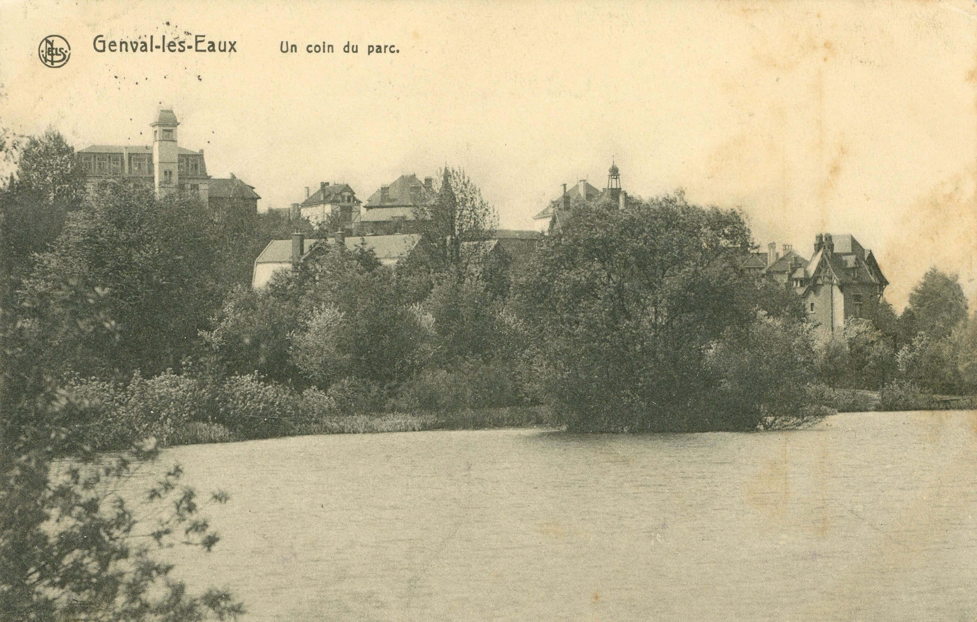 3 Un coin du parc de Genval circ 1914 coll. Jean-Claude Renier (1)