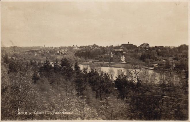 Lac de Genval avant 1945 coll. Eric de Séjournet
