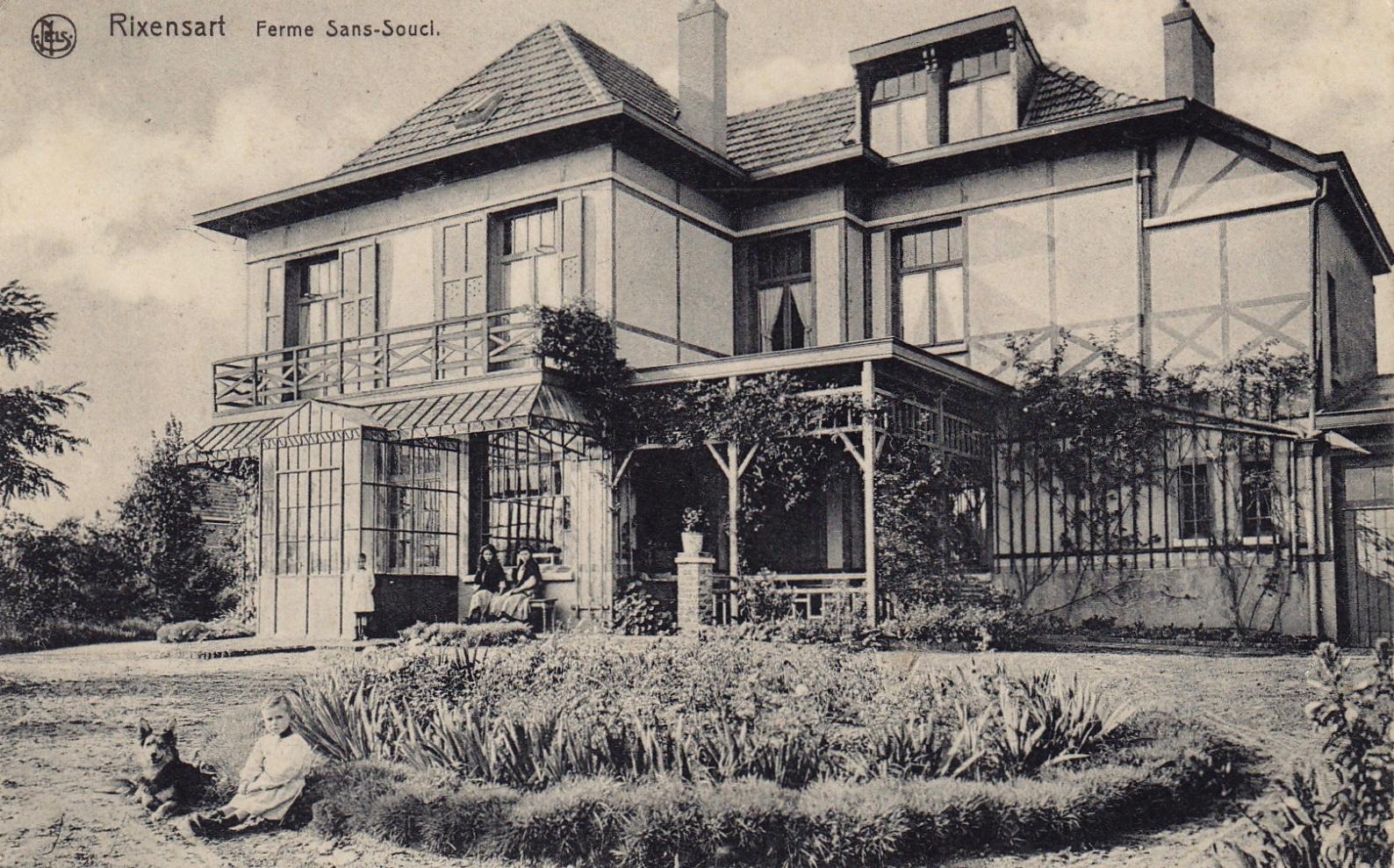 Ferme Sans-Souci côté jardin 1906 coll. Jean-Louis Lebrun