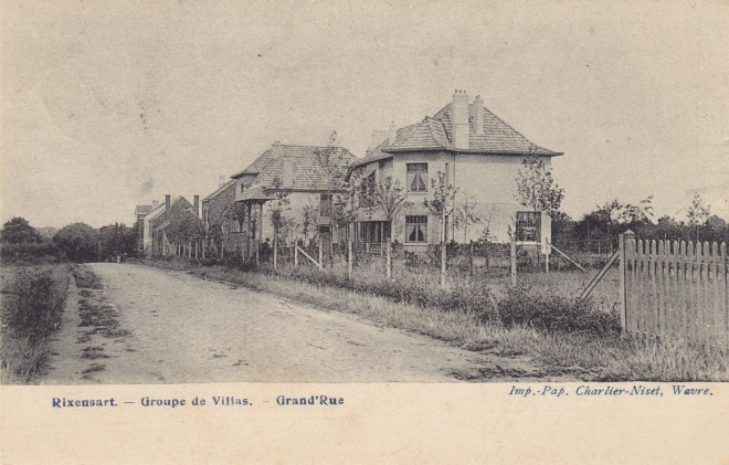Groupe de villas Grand'Rue 1905 c Imelda De Thaey