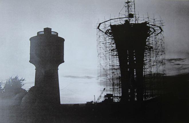 1965/1969 Construction du nouveau château d'eau de Genval - Roger Javaux-Dubois facit (coll. Cercle d'Histoire de Rixensart)