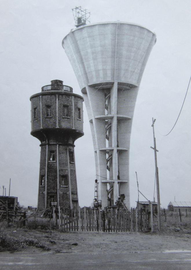 1969 Fin de la construction du nouveau château d'eau de Genval (coll. Cercle d'Histoire de Rixensart)