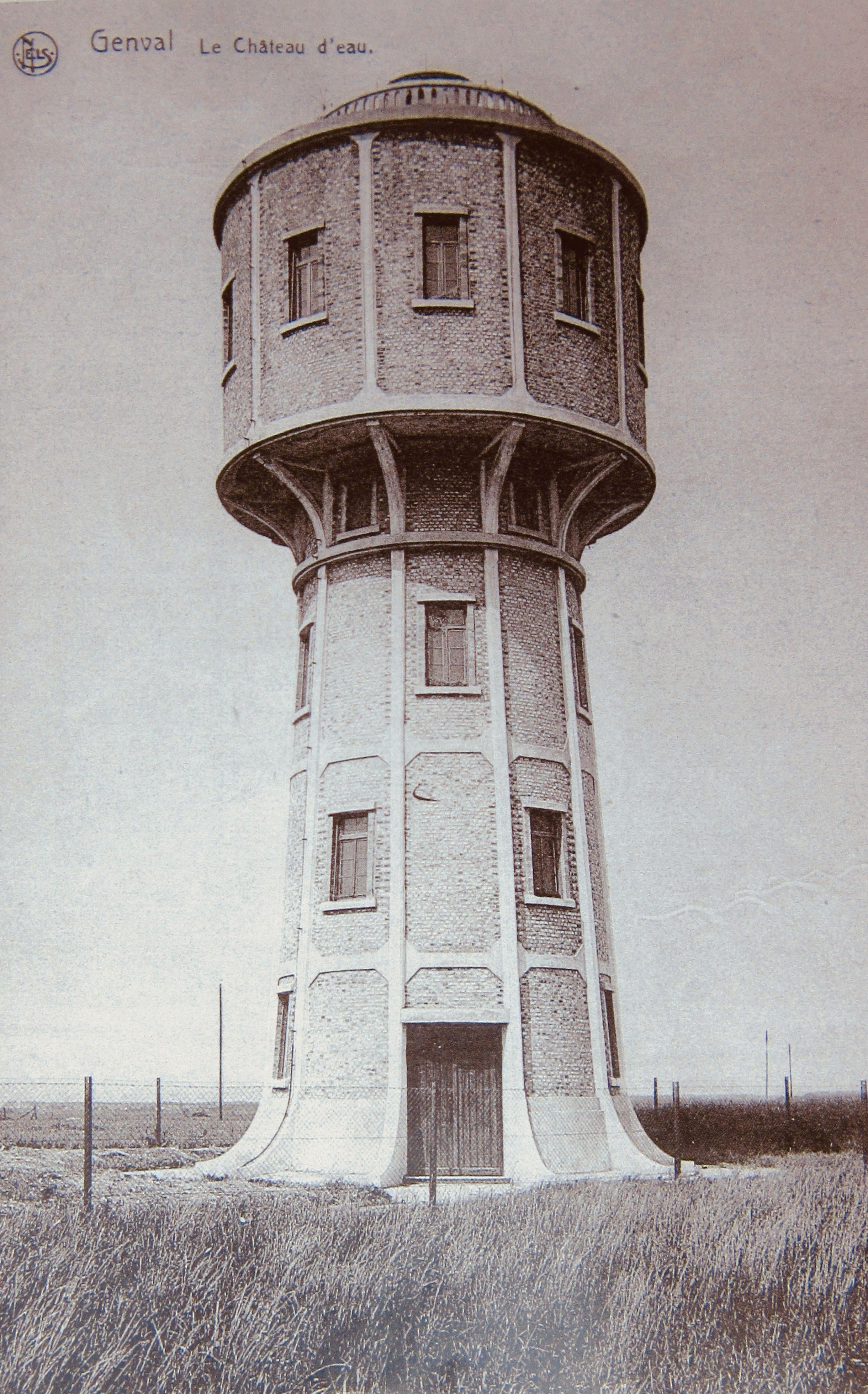 ca 1930| Ancien château d'eau de Genval (coll. Cercle d'Histoire de Rixensart) CHR