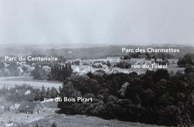 1985/1990 | Vue 2 depuis le château d'eau de Genval III - F. Chauffoureaux facit (coll. Cercle d'Histoire de Rixensart) copie
