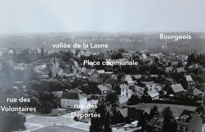 1985/1990 |Vue 3 depuis le château d'eau de Genval III - F. Chauffoureaux facit (coll. Cercle d'Histoire de Rixensart) copie